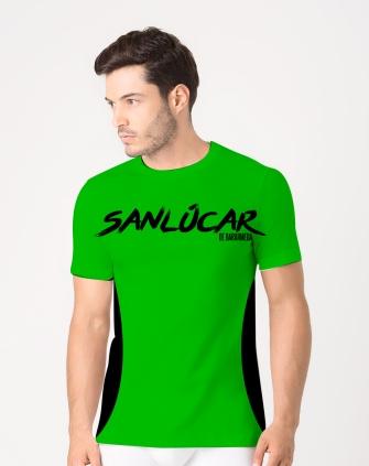 camiseta nombre verde y negro