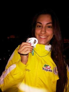Alicia Vázquez tercera de Andalucía de clubesjúnior