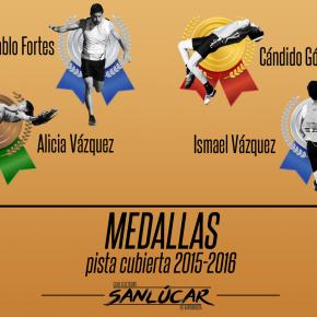 Un total de cuatro medallas durante pistacubierta