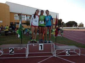 Marta, Dani y Roberto en la II Reunión atlética enSanlúcar