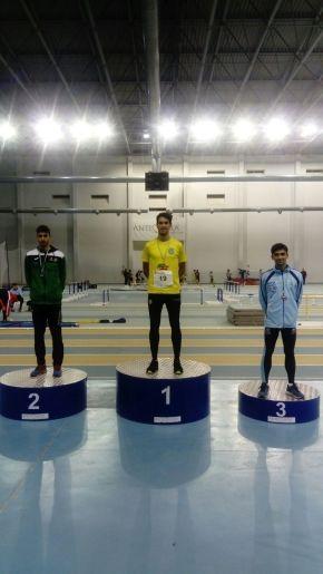 Ismael Vázquez campeón de Andalucía Sub´23 en Salto deLongitud