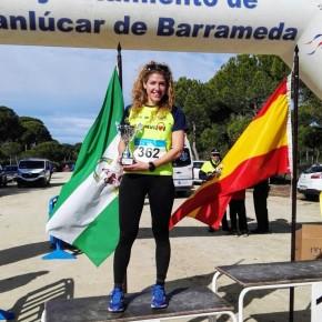 Elisa Piñero segunda clasificada del Cross de LaAlgaida