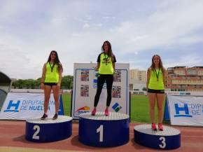 Alicia Vázquez y Pablo Fortes, del Club Atletismo Sanlúcar,Campeones de Andalucía de PruebasCombinadas