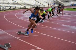 Paula Vargas compitió con el Club Atletismo Sanlúcar en elProvincial
